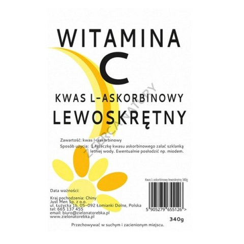 Witamina C Lewoskrętna proszek 340g JUST MEN
