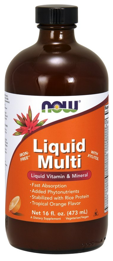 NOW FOODS Liquid Multi Vitamin & Mineral - Orange 473ml
