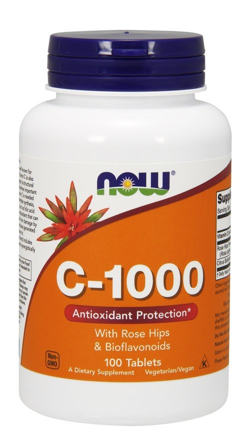 NOW FOODS Witamina C-1000 with Rose Hips & Bioflavonoids 100tabl.