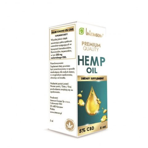 Olejek konopny CBD 5% 5ml INTENSON